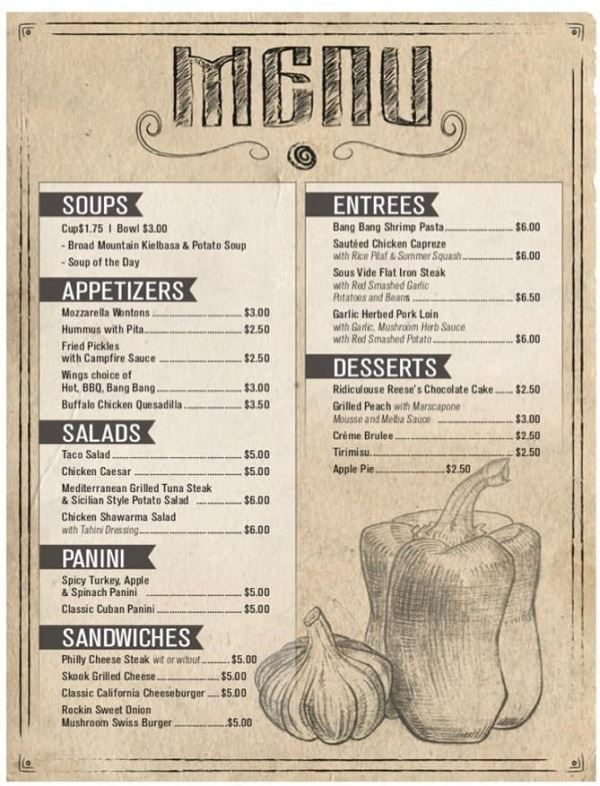 North Menu